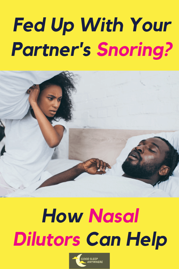 How nasal dilutors can help with snoring