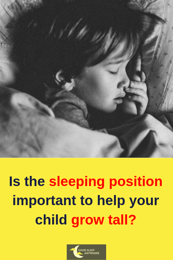 Is the sleeping position important to help your child grow tall