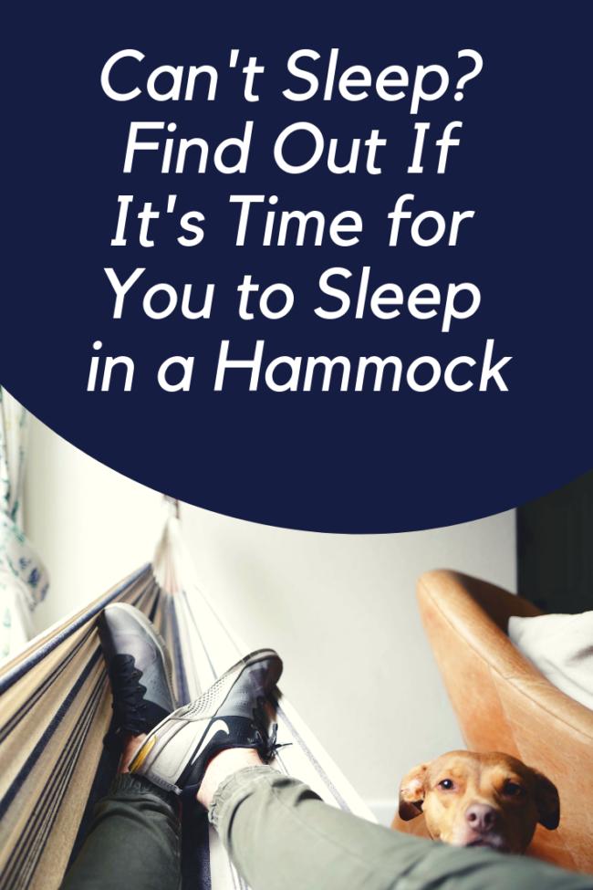Sleep in a Hammock