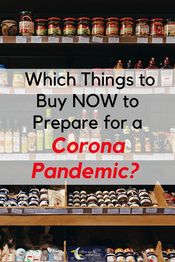 How to Prepare for a Corona Pandemic